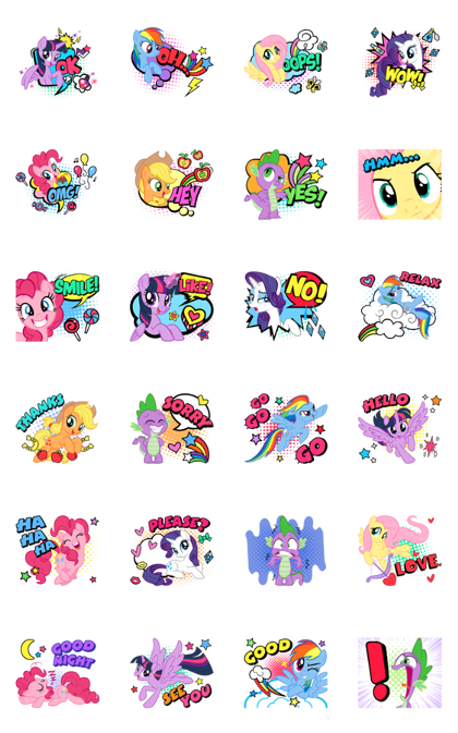 Animated MY LITTLE PONY stickers Line Sticker GIF & PNG Pack: Animated & Transparent No Background | WhatsApp Sticker
