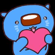 Aomaru, Mizuho's Blue Wombat Sticker for LINE & WhatsApp | ZIP: GIF & PNG