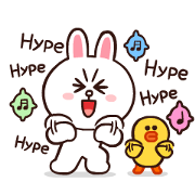 BROWN & FRIENDS Onomatopoeia Sticker for LINE & WhatsApp | ZIP: GIF & PNG