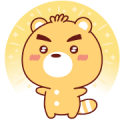 BluesBear: Unpretentious and Dull Life Sticker for LINE & WhatsApp | ZIP: GIF & PNG