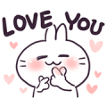 Bosstwo - Cute Rabbits Love You! Sticker for LINE & WhatsApp | ZIP: GIF & PNG
