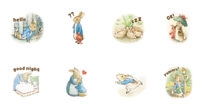 Brown Farm & Peter Rabbit™ Line Sticker GIF & PNG Pack: Animated & Transparent No Background | WhatsApp Sticker