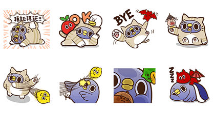 Bubble2 × Mentori Line Sticker GIF & PNG Pack: Animated & Transparent No Background | WhatsApp Sticker