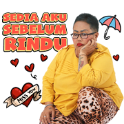 Bude Sumiyati Sticker for LINE & WhatsApp   ZIP: GIF & PNG