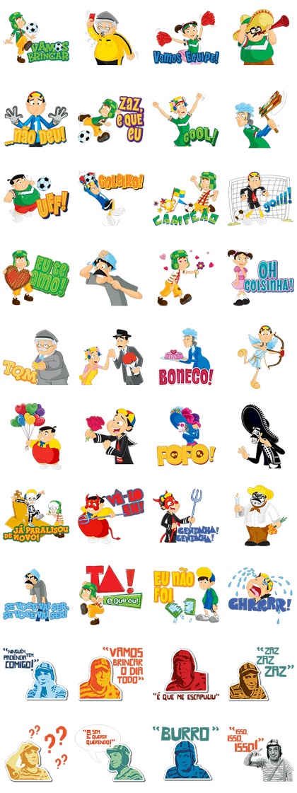 CHAVES Line Sticker GIF & PNG Pack: Animated & Transparent No Background | WhatsApp Sticker