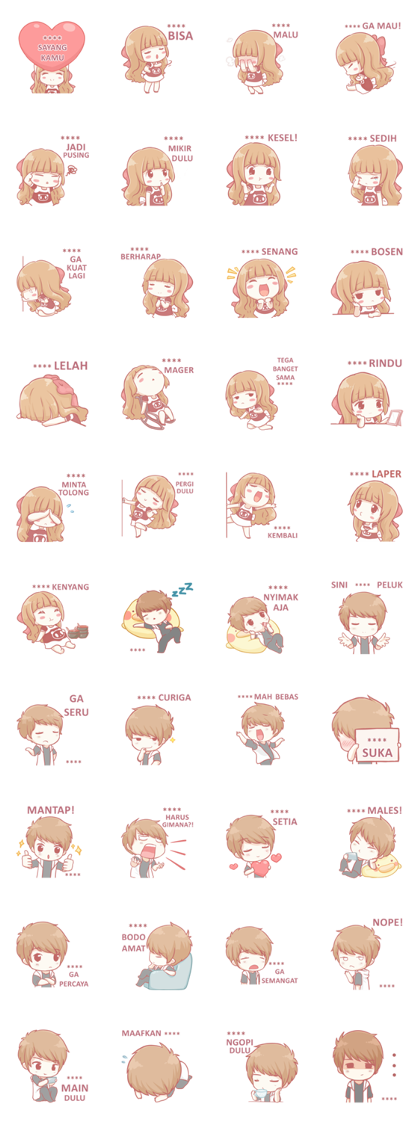 Centilia & Raei: Custom Stickers Line Sticker GIF & PNG Pack: Animated & Transparent No Background | WhatsApp Sticker