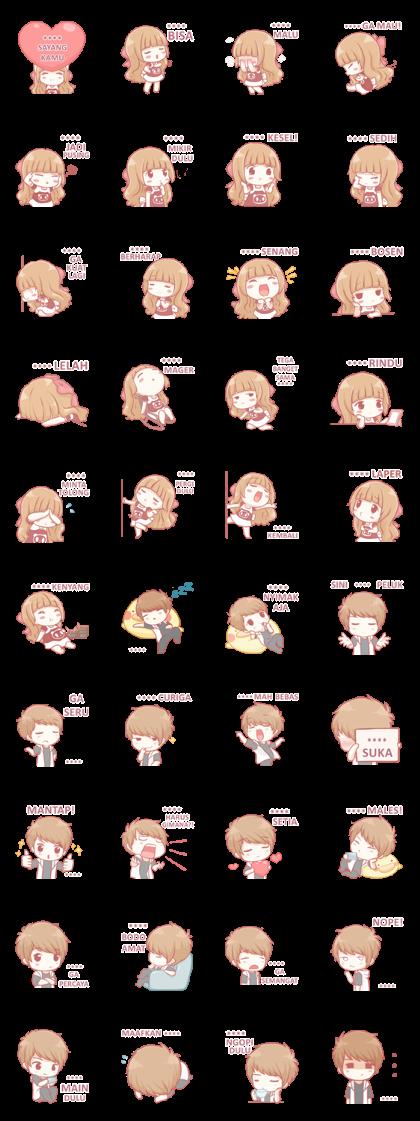 Centilia & Raei: Custom Stickers Line Sticker GIF & PNG Pack: Animated & Transparent No Background | WhatsApp Sticker
