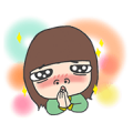 Cha Bao Mei Action Sticker for LINE & WhatsApp | ZIP: GIF & PNG