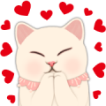 Choo Choo Cat's Heartbeats Sticker for LINE & WhatsApp | ZIP: GIF & PNG