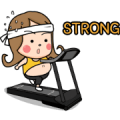 Chubby Girl 2: On a Diet Sticker for LINE & WhatsApp | ZIP: GIF & PNG