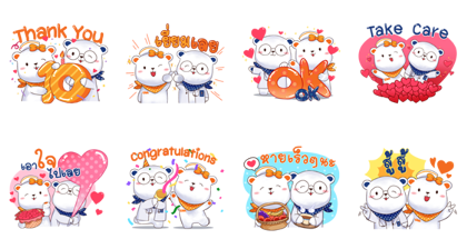 Chulabhorn Hospital 10th Anniversary Line Sticker GIF & PNG Pack: Animated & Transparent No Background | WhatsApp Sticker