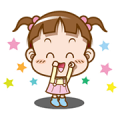 Cocoa – Cute Animated Sound Stickers 4 Sticker for LINE & WhatsApp | ZIP: GIF & PNG