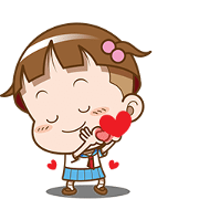 Cocoa – Love You Sticker for LINE & WhatsApp | ZIP: GIF & PNG