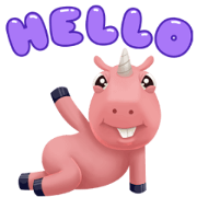 Corny the Unicorn Animated Sticker for LINE & WhatsApp | ZIP: GIF & PNG