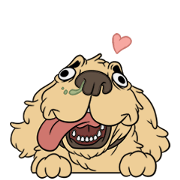 Cubi the Good Boi Sticker for LINE & WhatsApp | ZIP: GIF & PNG