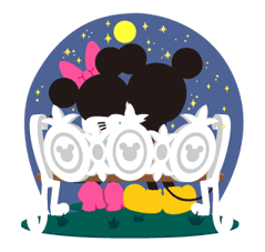 Disney LOVELOVE Sticker for LINE & WhatsApp | ZIP: GIF & PNG
