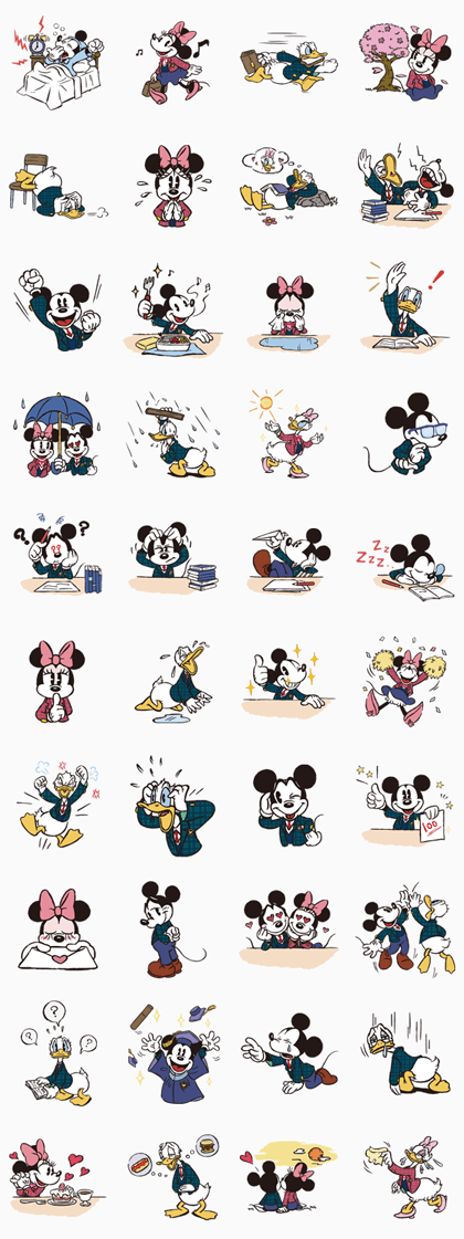 Disney School Life Line Sticker GIF & PNG Pack: Animated & Transparent No Background | WhatsApp Sticker