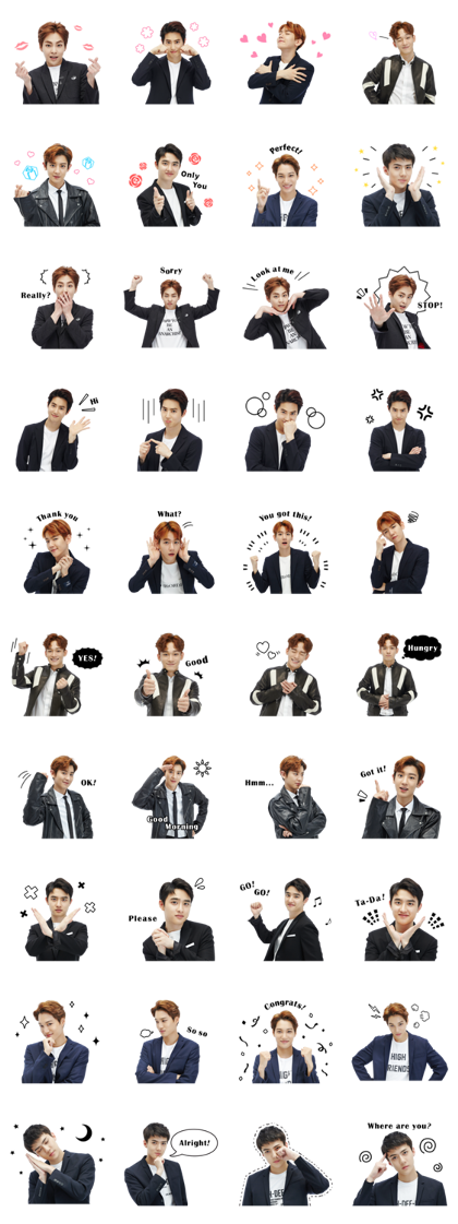 EXO Special 3 Line Sticker GIF & PNG Pack: Animated & Transparent No Background | WhatsApp Sticker