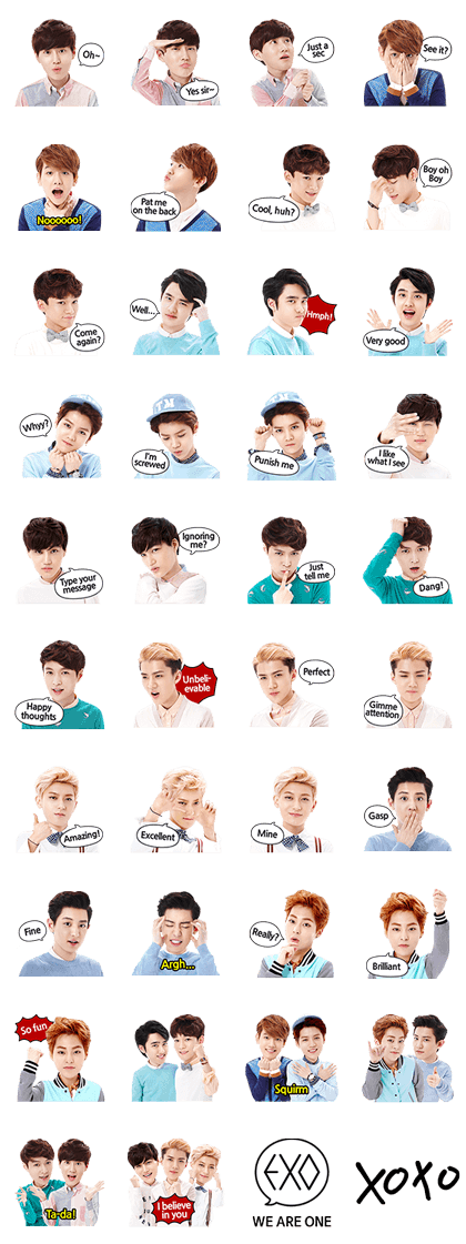 EXO Special Edition Line Sticker GIF & PNG Pack: Animated & Transparent No Background | WhatsApp Sticker