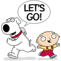 Family Guy Sticker for LINE & WhatsApp | ZIP: GIF & PNG