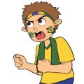 Favorite Team: Brazil Sticker for LINE & WhatsApp | ZIP: GIF & PNG