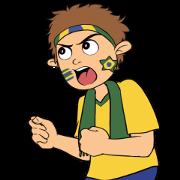 Favorite Team: Brazil Sticker for LINE & WhatsApp | ZIP: GIF & PNG