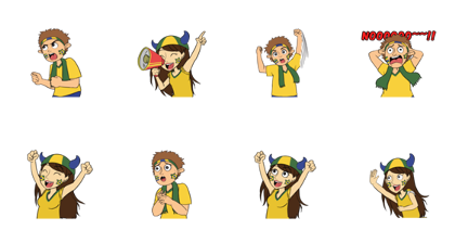 Favorite Team: Brazil Line Sticker GIF & PNG Pack: Animated & Transparent No Background | WhatsApp Sticker