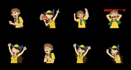 Favorite Team: Brazil Line Sticker GIF & PNG Pack: Animated & Transparent No Background   WhatsApp Sticker