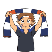 Favorite Team: France Sticker for LINE & WhatsApp   ZIP: GIF & PNG