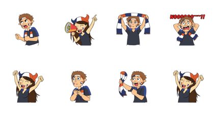 Favorite Team: France Line Sticker GIF & PNG Pack: Animated & Transparent No Background | WhatsApp Sticker