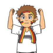 Favorite Team: Germany Sticker for LINE & WhatsApp | ZIP: GIF & PNG