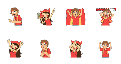 Favorite Team: Spain Line Sticker GIF & PNG Pack: Animated & Transparent No Background | WhatsApp Sticker