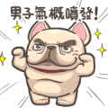 French Bulldog PIGU-Animated Sticker XII