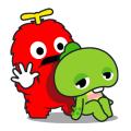Gachapin & Mukku Sticker for LINE & WhatsApp | ZIP: GIF & PNG