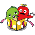 Gachapin & Mukku 2 Sticker for LINE & WhatsApp | ZIP: GIF & PNG