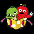 Gachapin & Mukku 2 Sticker for LINE & WhatsApp | ZIP: GIF & PNG