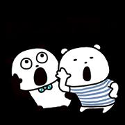 Gokigen panda×SHIROKUMA Sticker for LINE & WhatsApp | ZIP: GIF & PNG