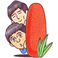 Hakata Hanamaru・Daikichi Sticker for LINE & WhatsApp | ZIP: GIF & PNG
