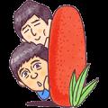Hakata Hanamaru・Daikichi Sticker for LINE & WhatsApp | ZIP: GIF & PNG