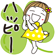Hanako's Pop-Up Life Sticker for LINE & WhatsApp | ZIP: GIF & PNG