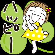 Hanako's Pop-Up Life Sticker for LINE & WhatsApp | ZIP: GIF & PNG