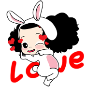 Happy Happy Ddung Sticker for LINE & WhatsApp   ZIP: GIF & PNG