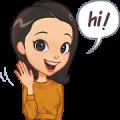 Happy Maya Sticker for LINE & WhatsApp | ZIP: GIF & PNG