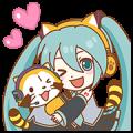 Hatsune Miku × Rascal Sticker for LINE & WhatsApp | ZIP: GIF & PNG