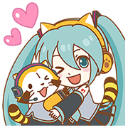 Hatsune Miku × Rascal Sticker for LINE & WhatsApp | ZIP: GIF & PNG