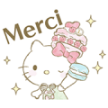 Hello Kitty × Les Secrets LADURÉE Sticker for LINE & WhatsApp | ZIP: GIF & PNG