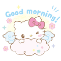 Hello Kitty: Baby Angel Sticker for LINE & WhatsApp | ZIP: GIF & PNG