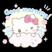 Hello Kitty: Baby Angel Sticker for LINE & WhatsApp   ZIP: GIF & PNG