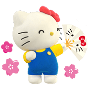 Hello Kitty: Together with Mimmy Sticker for LINE & WhatsApp | ZIP: GIF & PNG
