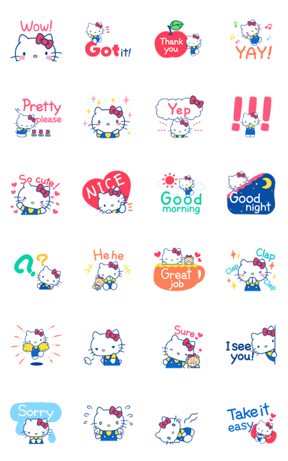 Hello Kitty's Cute Phrases Line Sticker GIF & PNG Pack: Animated & Transparent No Background   WhatsApp Sticker